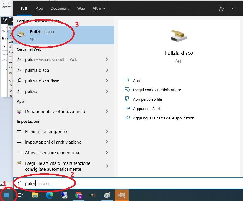 Pulizia Disco in Windows 10